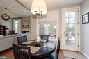 Breakfast room overlooking outdoor living space - 23013 OLYMPIA DR, ASHBURN