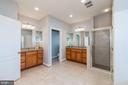 Master with separate vanities and shower - 23013 OLYMPIA DR, ASHBURN