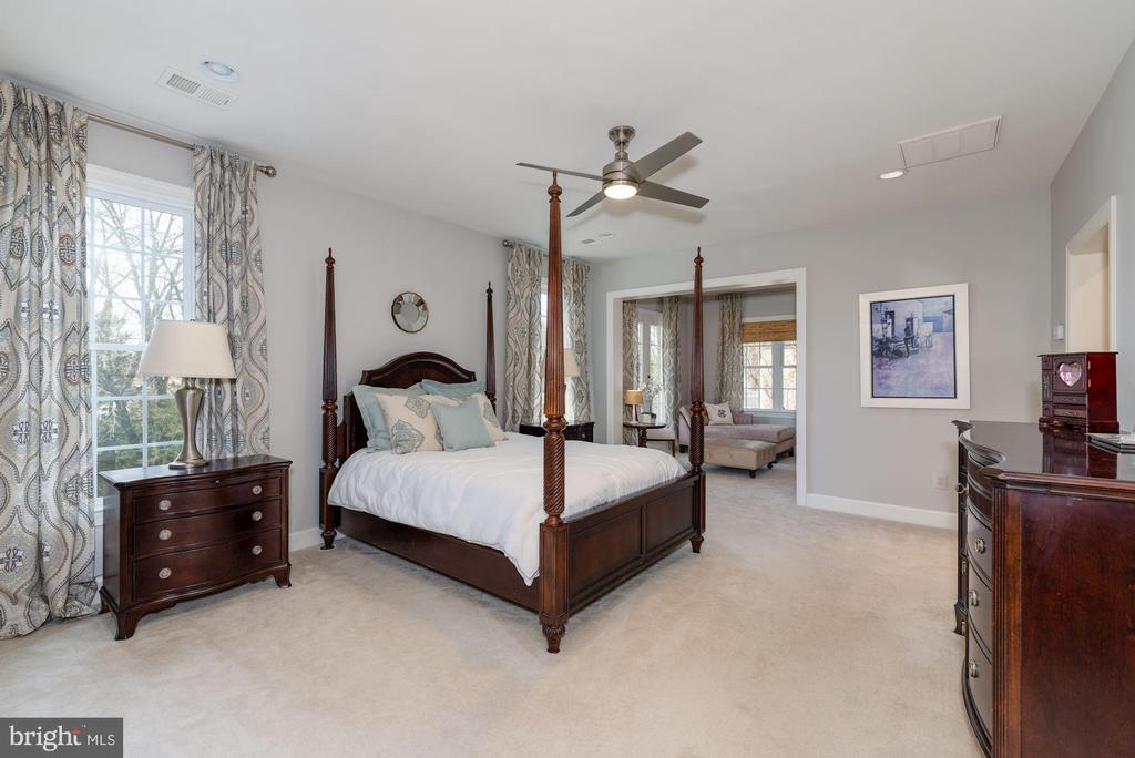Oversized master with sitting room - 23013 OLYMPIA DR, ASHBURN