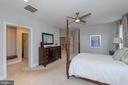 Master with two walk-ins and dressing area - 23013 OLYMPIA DR, ASHBURN
