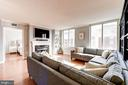 Living Room with large windows - 1220 N FILLMORE ST #708, ARLINGTON