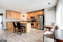 Stunning kitchen with new modern floors!! - 43545 MAHALA ST, LEESBURG