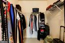 Large Walk in closet off of master bedroom - 43545 MAHALA ST, LEESBURG