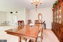 Dining Room - 5608 CAVALIER WOODS LN, CLIFTON