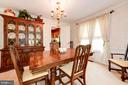 Dining Room View#3 - 5608 CAVALIER WOODS LN, CLIFTON