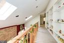 Upper Level Hallway overlook to Family Room#2 - 5608 CAVALIER WOODS LN, CLIFTON