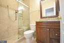 Full bath with walk in shower, granite - 19082 PILEATED TER, LEESBURG