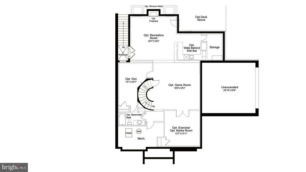 Upper level floor plan - 23013 OLYMPIA DR, ASHBURN