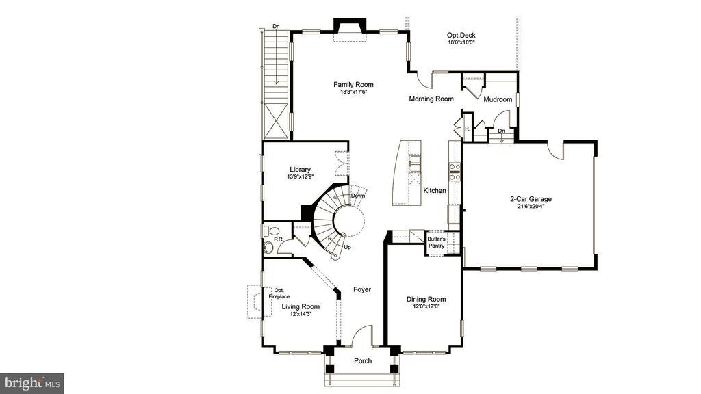 Main level fllor plan - 23013 OLYMPIA DR, ASHBURN