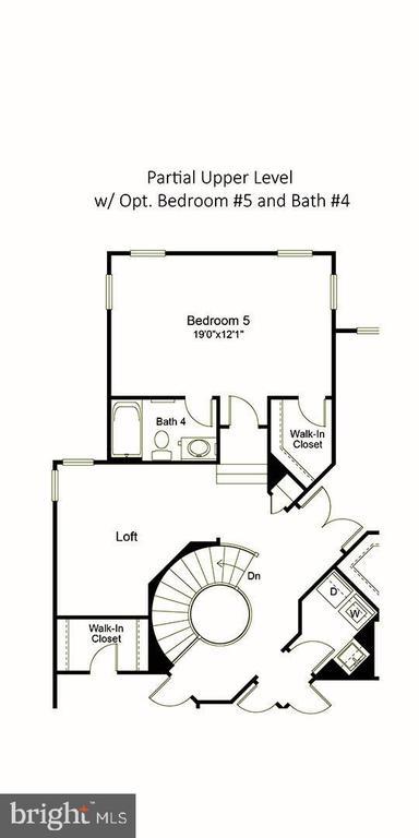 Princess suite bedroom option - 23013 OLYMPIA DR, ASHBURN
