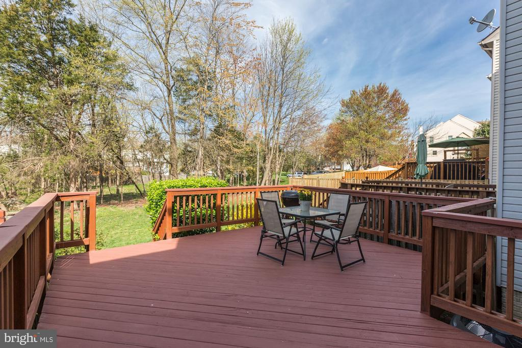 Spacious Deck Perfect for Grilling - 14111 BETSY ROSS LN, CENTREVILLE