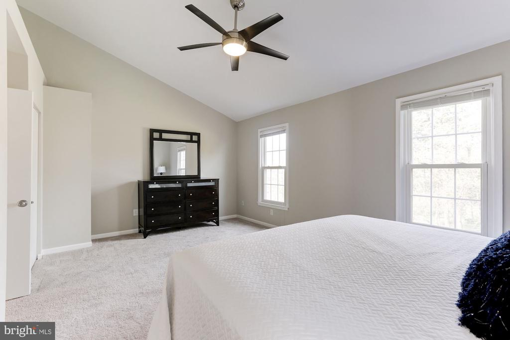 Cathedral Ceilings in Master Bedroom - 14111 BETSY ROSS LN, CENTREVILLE