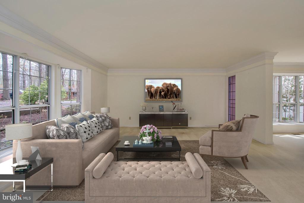 Large virtually staged great room - 418 WILDERNESS DR, LOCUST GROVE