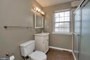 Very nice bathroom on the main level - 418 WILDERNESS DR, LOCUST GROVE