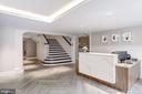 Elegant lobby with a staffed concierge - 1745 N ST NW #210, WASHINGTON