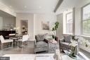 Living area with high ceilings and wonderful light - 1745 N ST NW #210, WASHINGTON