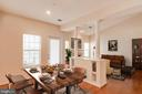 Dining area flows out to balcony - 1716 LAKE SHORE CREST DR #35, RESTON
