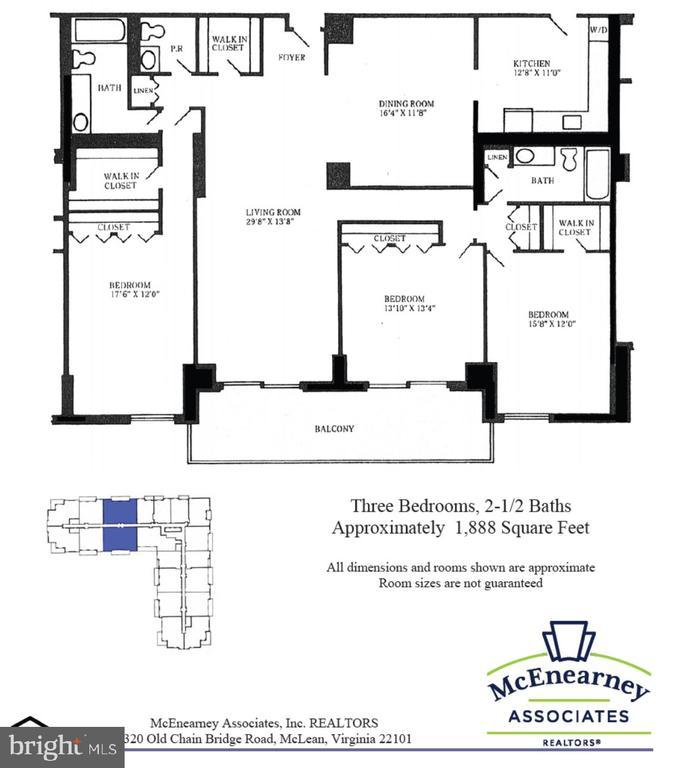 Floor Plan - 1800 OLD MEADOW RD #606, MCLEAN