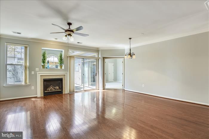 OPEN Living Area with NEW Hardwood Floors - 43299 RUSH RUN TER, ASHBURN