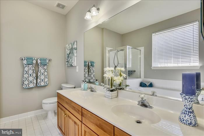 Lux Bath with Double Sink Vanity~Cherry Cabinetry - 43299 RUSH RUN TER, ASHBURN