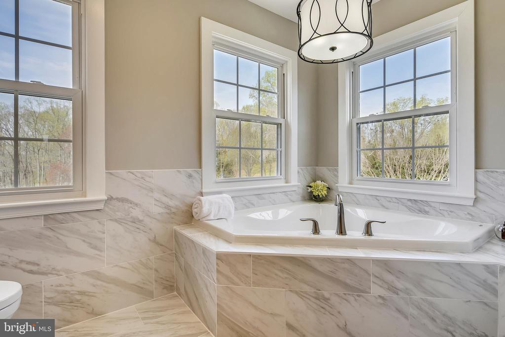 Gorgeous tub (light not code & can be removed) - 7608 MANOR HOUSE DR, FAIRFAX STATION
