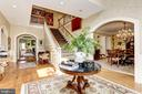 Foyer in relation to Dining and Family Rooms - 9606 FALLS, POTOMAC