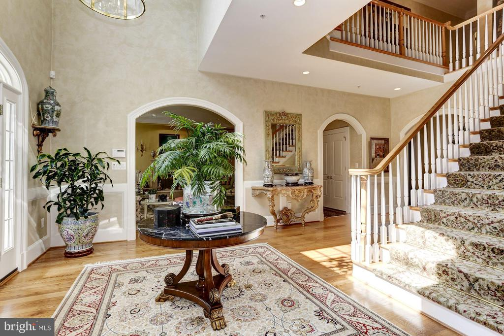 Two Story Foyer filled with Light - 9606 FALLS, POTOMAC