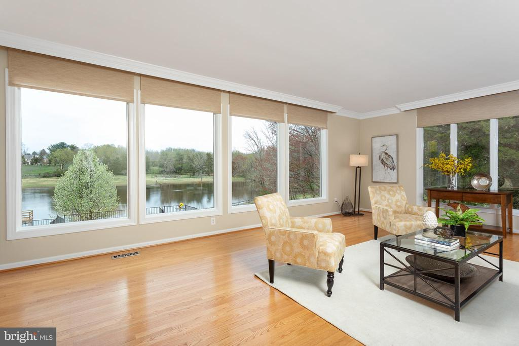 Living Room with Gorgeous Views! - 13108 LAUREL GLEN RD, CLIFTON
