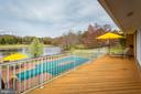 Deck off Family Room and pool/pond view! - 13108 LAUREL GLEN RD, CLIFTON