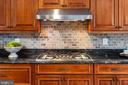 Custom Details & 5-Burner Cooktop with Exhaust - 13108 LAUREL GLEN RD, CLIFTON