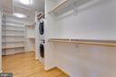 Master Custom Closet w/Washer & Dryer - 13108 LAUREL GLEN RD, CLIFTON