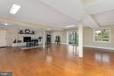 Recreation Room with Walkout & Decorative Brick - 13108 LAUREL GLEN RD, CLIFTON