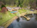 Aerial View - Pond with aeration system! - 13108 LAUREL GLEN RD, CLIFTON