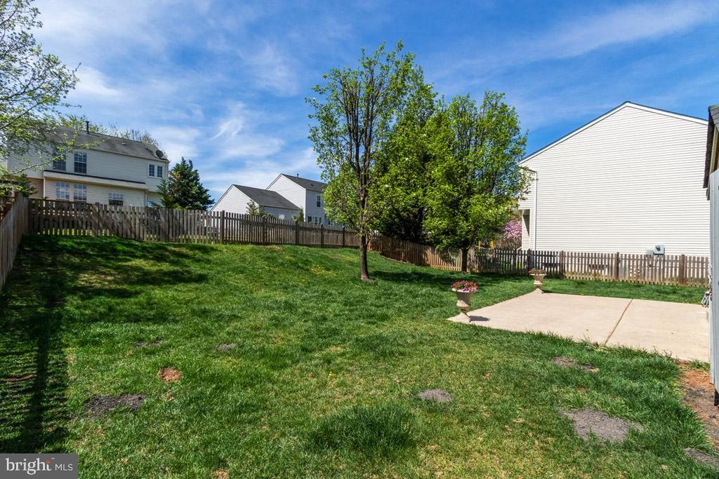 Rear fenced yard - 20691 POMEROY CT, ASHBURN