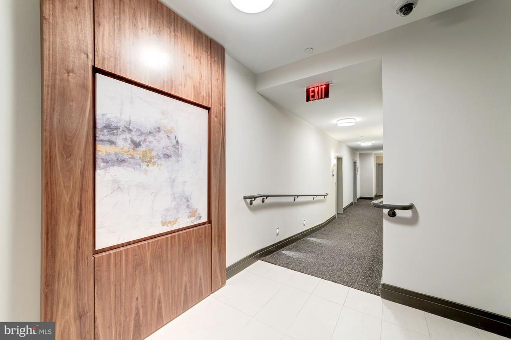 Corridor to get to residence from the elevator - 1745 N ST NW #208, WASHINGTON