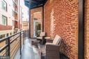 Nicely sized private outdoor balcony - 1745 N ST NW #208, WASHINGTON