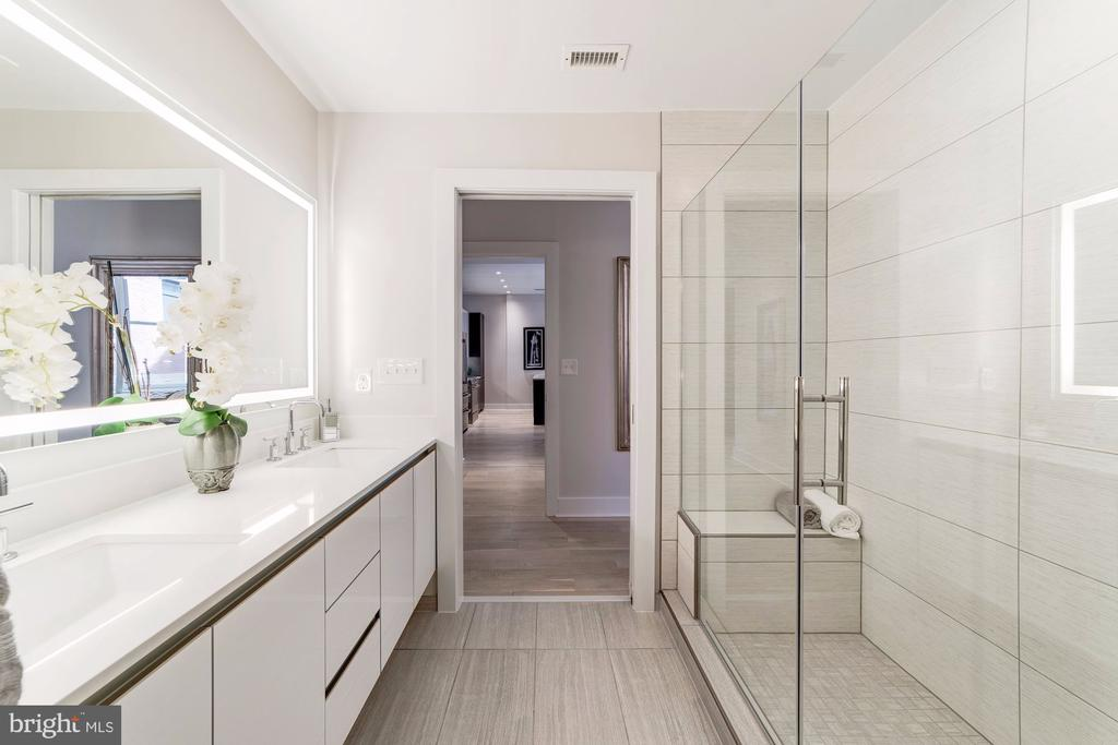 Master bathroom with double vanity - 1745 N ST NW #208, WASHINGTON