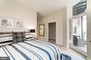 Master bedroom with access to the private balcony - 1745 N ST NW #208, WASHINGTON
