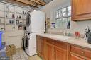 Laundry room with cabinets, corian counter/sink - 6714 NORVIEW CT, SPRINGFIELD