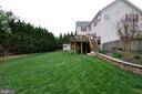 Fenced rear yard - 26 PINKERTON CT, STAFFORD