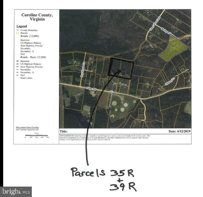 Land for Sale at 0 Paige Rd Bowling Green, Virginia 22427 United States