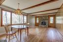 Huge family room. Stone fireplace Natural light. - 7007 PARTRIDGE PL, HYATTSVILLE