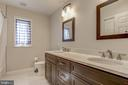 Full bath with new huge vanity,double sinks. - 7007 PARTRIDGE PL, HYATTSVILLE
