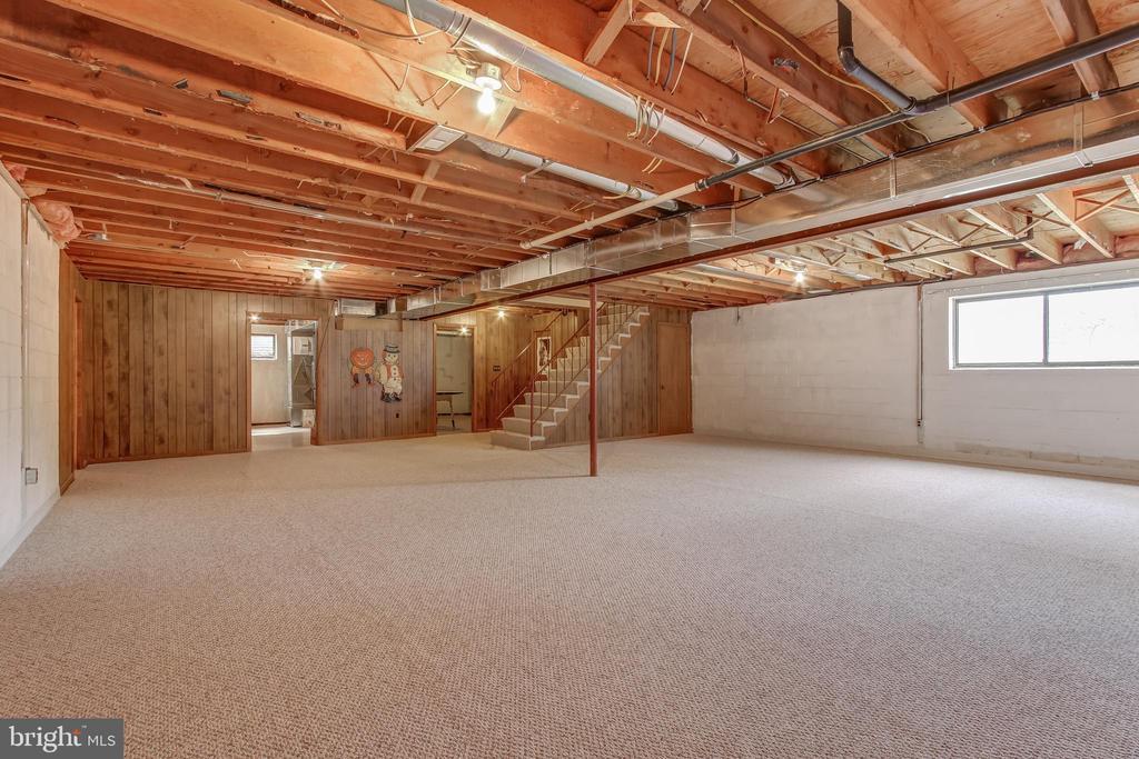 Huge open lower level with new carpet. - 7007 PARTRIDGE PL, HYATTSVILLE