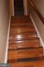 Wood stairs to upper level - 13 HARRY CT, STAFFORD