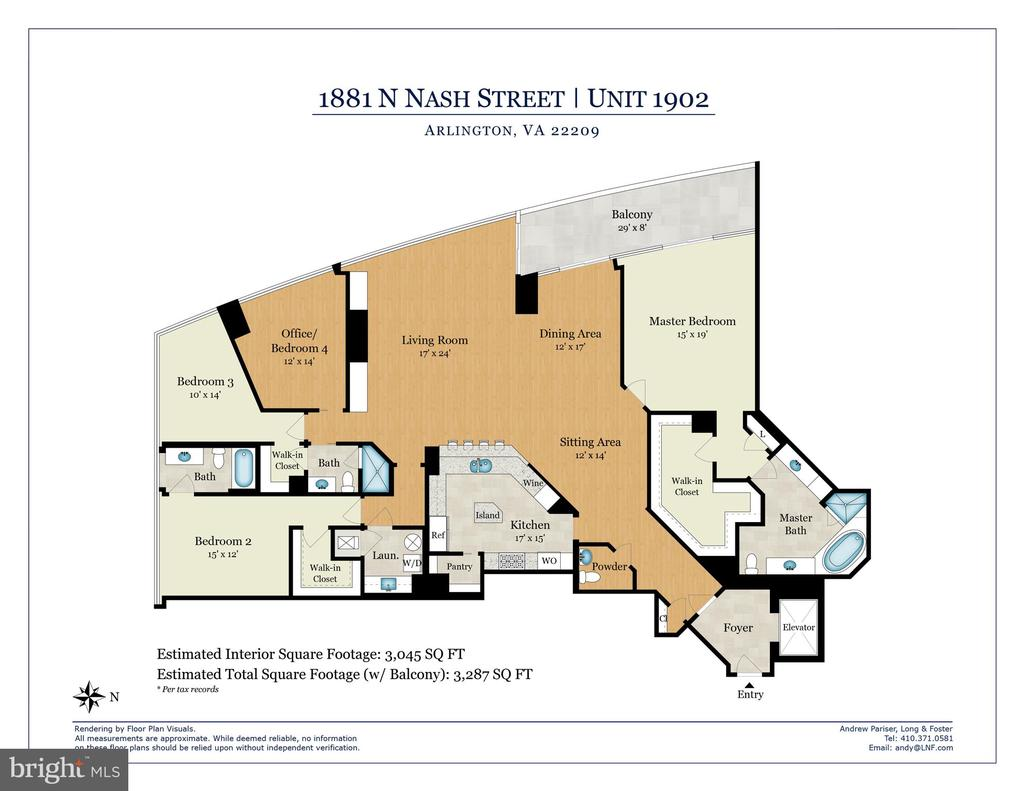 Floor Plan - 1881 N NASH ST #1902, ARLINGTON