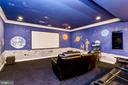 Theater / Media, Projector & Screen - 11536 MANORSTONE LN, COLUMBIA