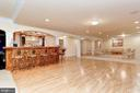 Lower Level Full Wet Bar & Dance Floor - 11536 MANORSTONE LN, COLUMBIA