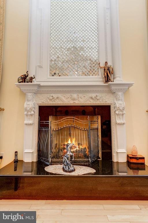 Feature Mirrored Mosaic Over-Mantel - 11536 MANORSTONE LN, COLUMBIA