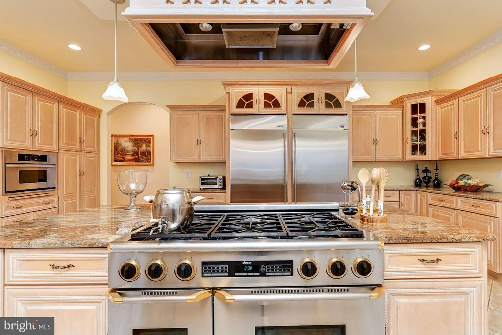 Gas Cooking with 6-burners and Range Hood - 11536 MANORSTONE LN, COLUMBIA